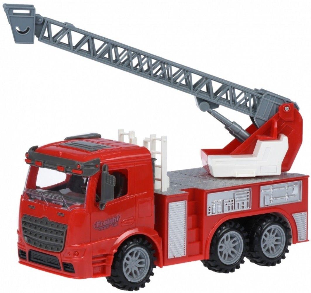 Купить Игрушечные машинки и техника, Машинка Same Toy Truck Пожарная машина с лестницей со светом и звуком (98-616AUt)