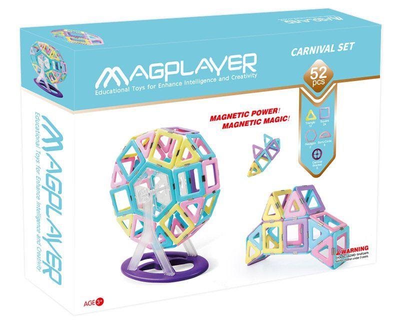 Купить Конструкторы, Магнитный конструктор MagPlayer 62 элемента (MPH2-62)
