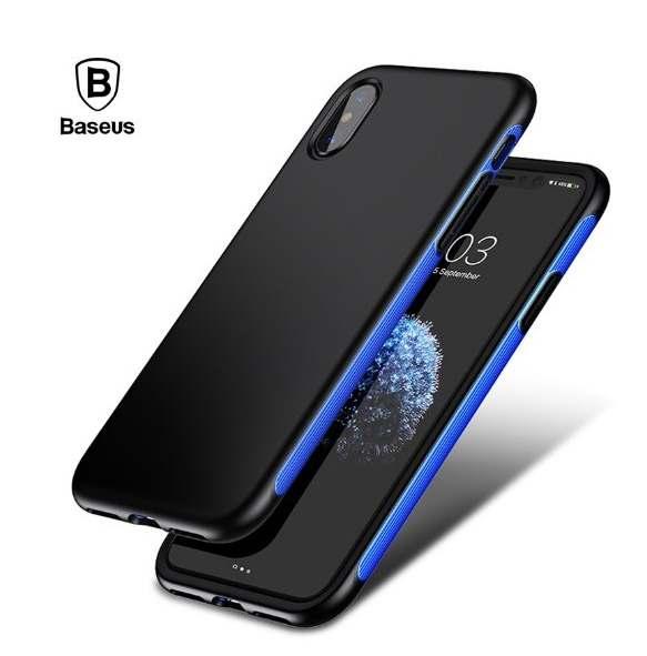 Купить Чехлы для мобильных телефонов, Накладка Baseus Bumper iPhone X Dark Blue (BM15)