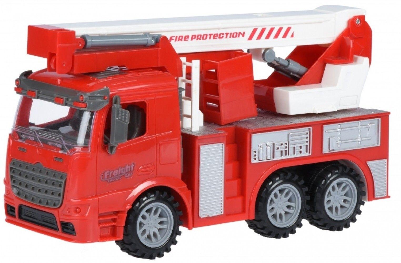 Купить Игрушечные машинки и техника, Машинка Same Toy Truck Пожарная машина с подъемным краном со светом и звуком (98-617AUt)