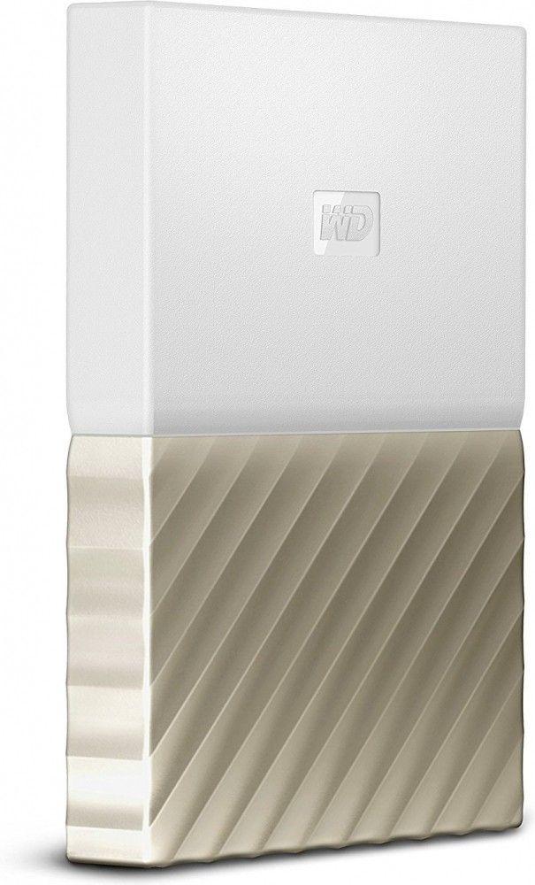 Жесткие диски, Жесткий диск Western Digital My Passport Ultra 4TB WDBFKT0040BGD-WESN 2.5 USB 3.0 External White-Gold  - купить со скидкой