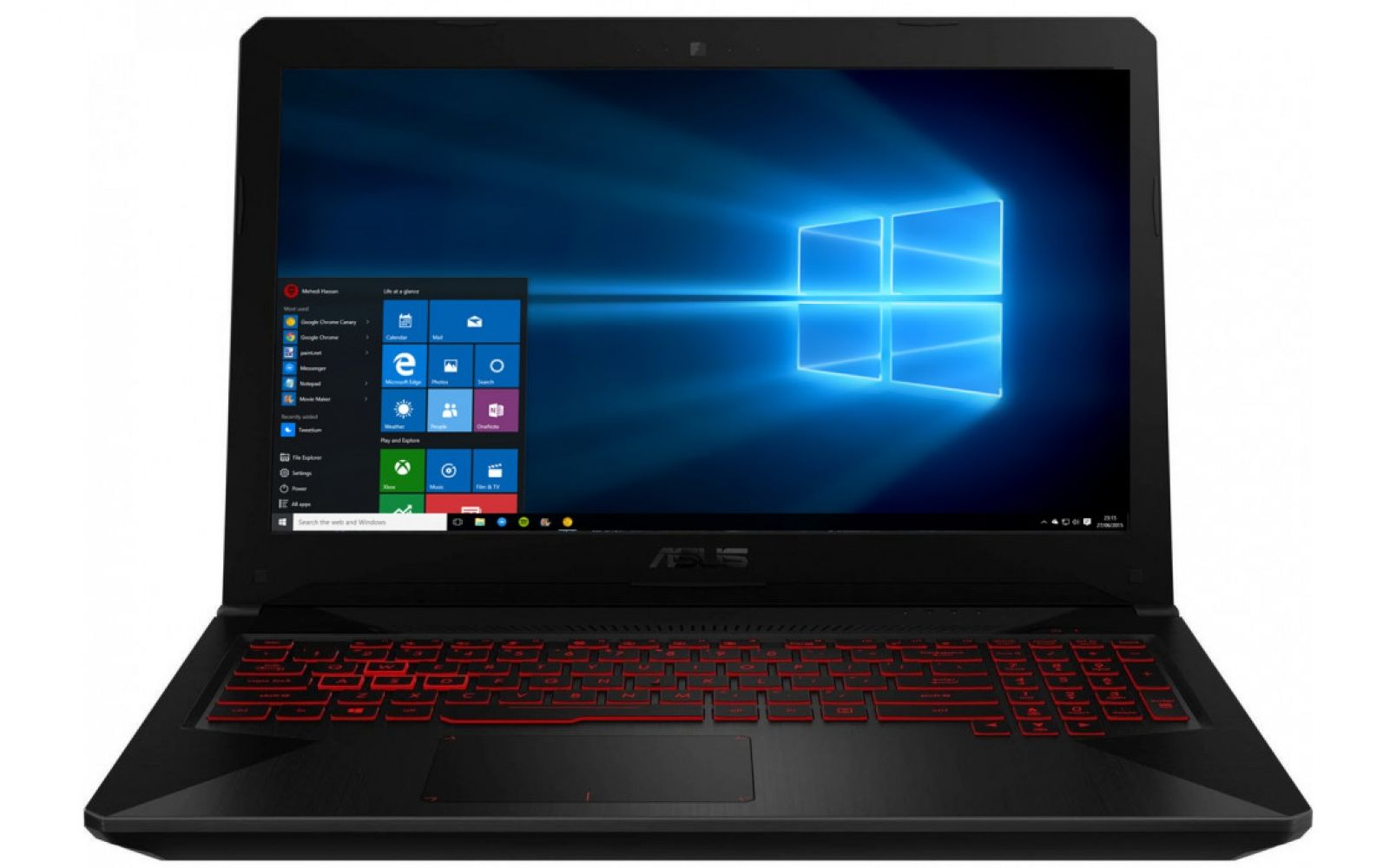 Купить Ноутбуки, Ноутбук ASUS TUF Gaming FX504GM-E4245 (90NR00Q2-M04870) Black/Red Pattern