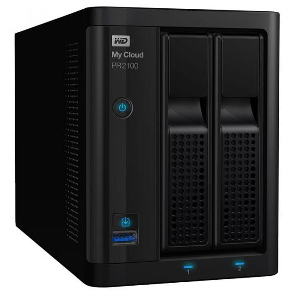 Сетевой накопитель WD My Cloud Pro Series PR2100 8TB (WDBBCL0080JBK-EESN), Western Digital  - купить со скидкой