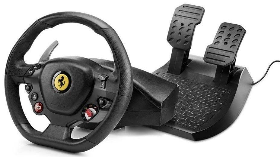 Купить Манипуляторы, джойстики, Проводной руль Thrustmaster T80 Ferrarri 488 GTB Edition PC/PS4 (4160672) Black