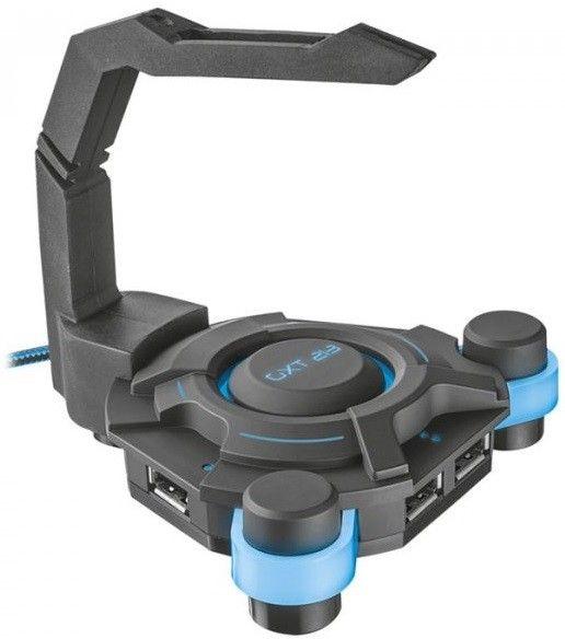 Купить USB-хаб Trust GXT 213 4 Ports USB 2.0 с держателем для провода мыши (20816)