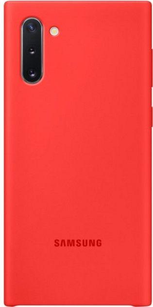 Накладка Samsung Silicone Cover для Samsung Galaxy Note 10 (EF-PN970TREGRU) Red от Територія твоєї техніки