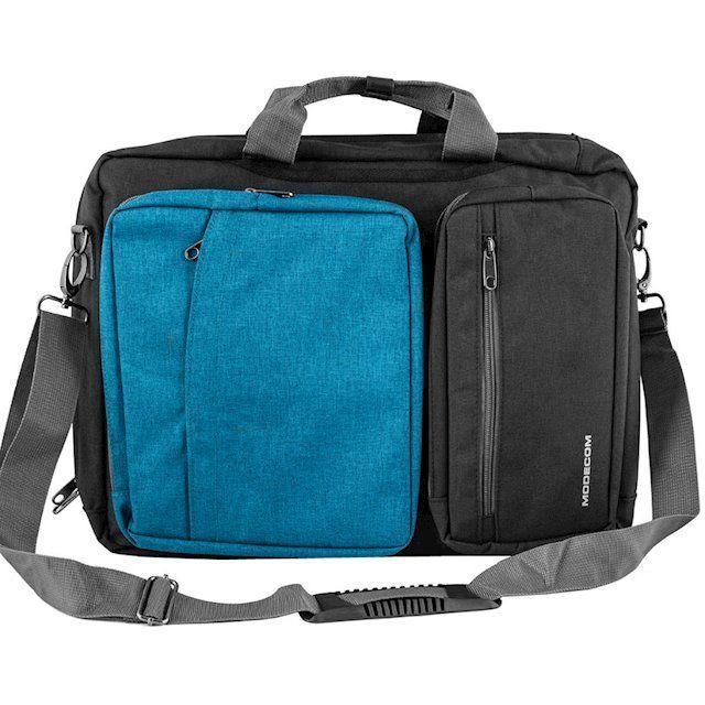 Сумки / чехлы для ноутбуков, Сумка-рюкзак трансформер для ноутбука Modecom Reno 15.6 (TOR-MC-RENO-BLU) Blue  - купить со скидкой