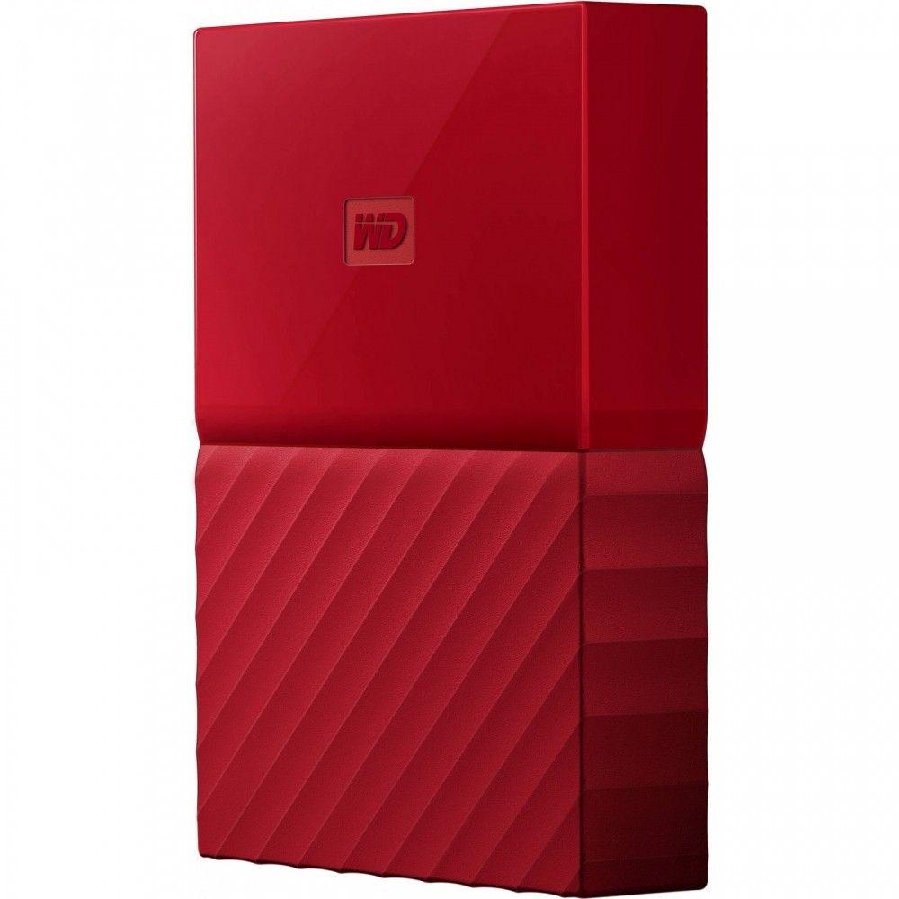 Купить Жесткие диски, Жесткий диск Western Digital My Passport 4TB WDBYFT0040BRD-WESN 2.5 USB 3.0 External Red