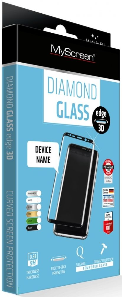 Защитное стекло MyScreen DIAMOND GLASS edge 3D iPhone 7/8 Black