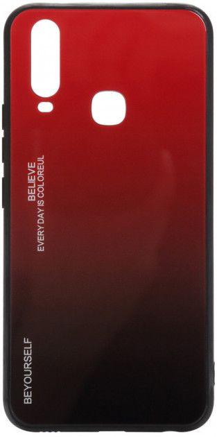 Купить Чехлы для мобильных телефонов, Панель BeCover Gradient Glass для Vivo Y15/Y17 (704045) Red-Black
