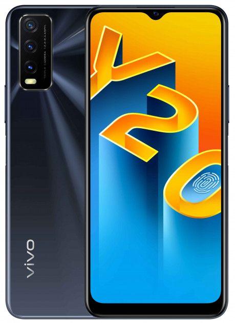 Смартфоны, Смартфон vivo Y20 4/64GB (6935117826820) Obsidian Black  - купить со скидкой