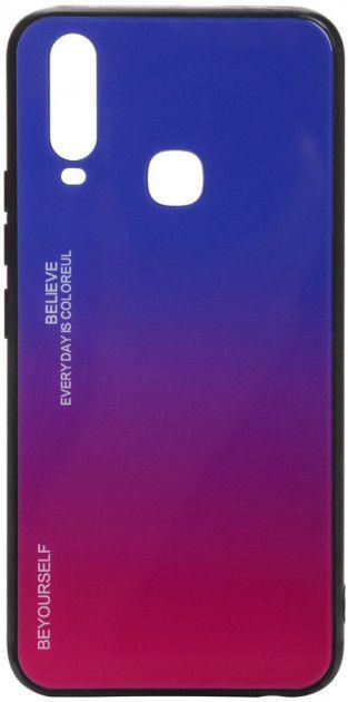 Купить Чехлы для мобильных телефонов, Панель BeCover Gradient Glass для Vivo Y15/Y17 (704041) Blue-Red