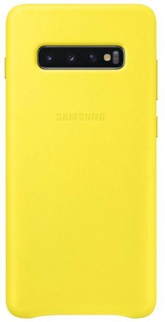 Панель Samsung Leather Cover для Samsung Galaxy S10 Plus (EF-VG975LYEGRU) Yellow от Територія твоєї техніки