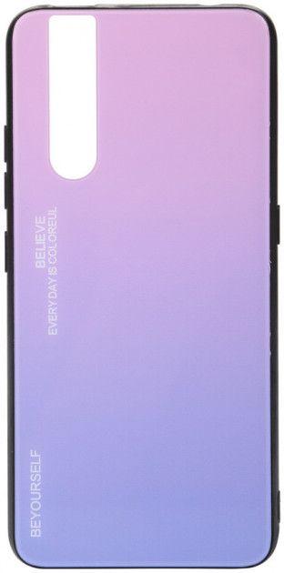 Купить Чехлы для мобильных телефонов, Панель BeCover Gradient Glass для Vivo V15 Pro (704036) Pink-Purple