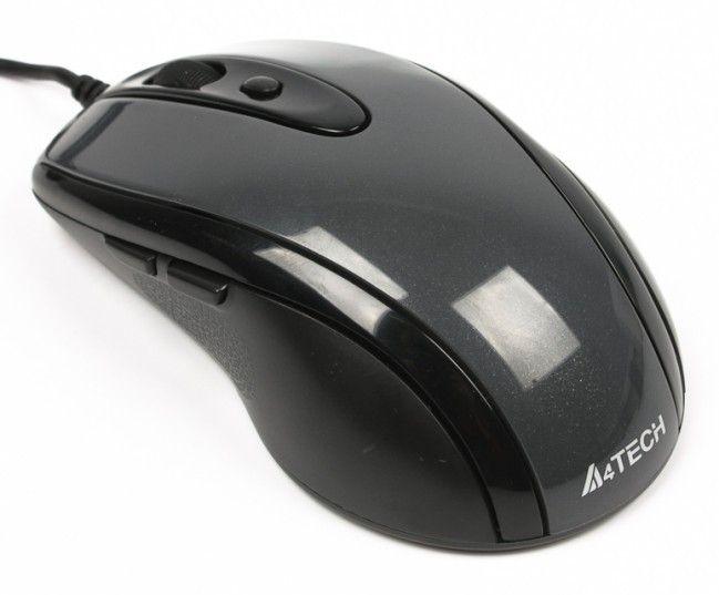 Мыши, Мышь A4Tech N-708X USB (4711421867009) Grey  - купить со скидкой