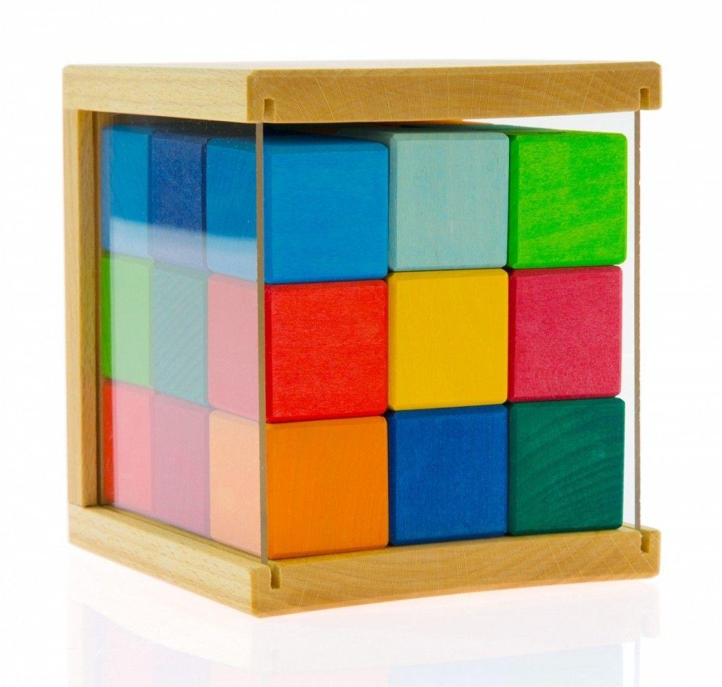 Купить Конструкторы, Конструктор деревянный Nic Кубики 27 деталей (NIC523303)