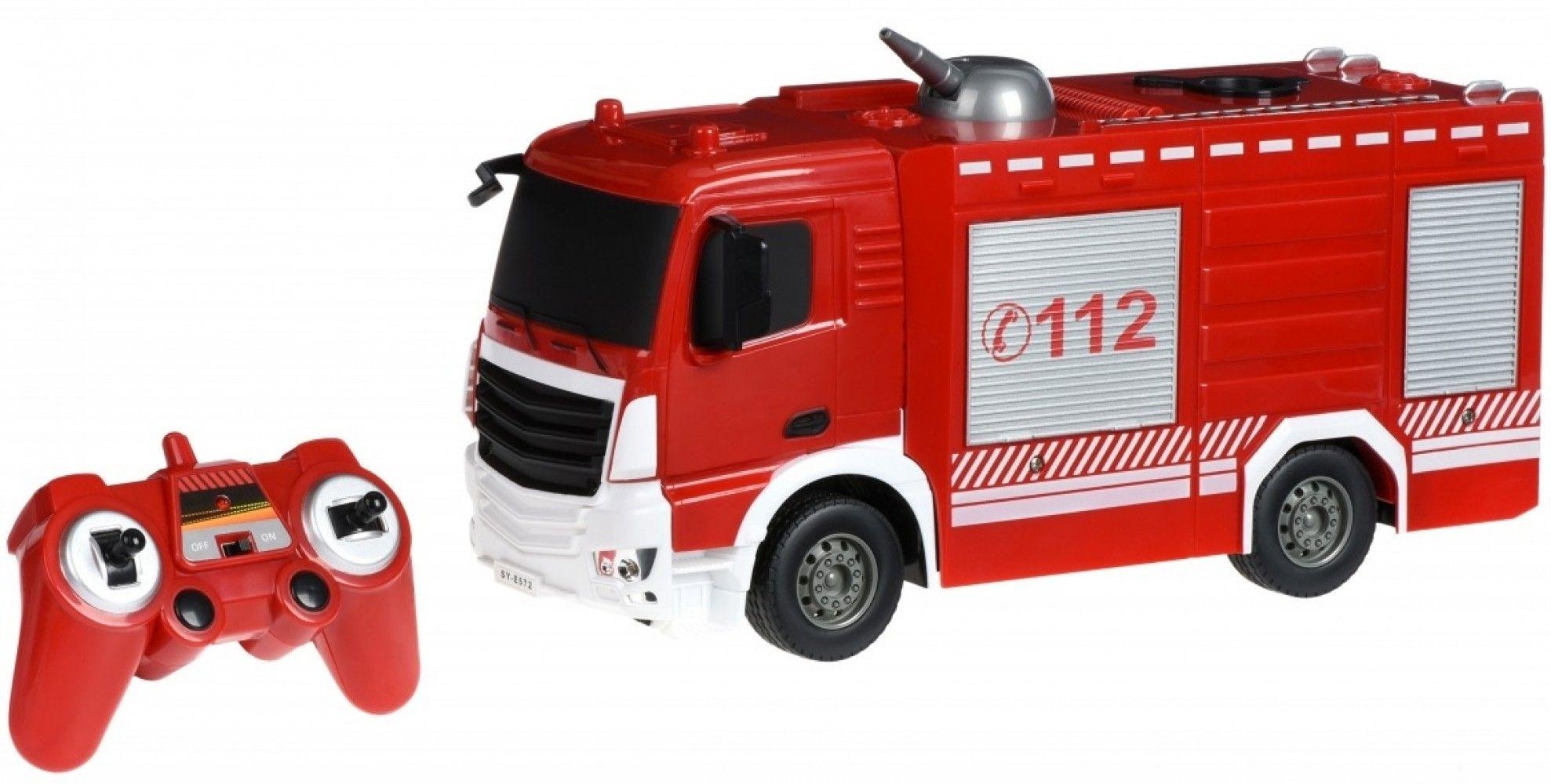 Купить Игрушечные машинки и техника, Машинка на р/у Same Toy Пожарная машина с распылителем воды (E572-003)