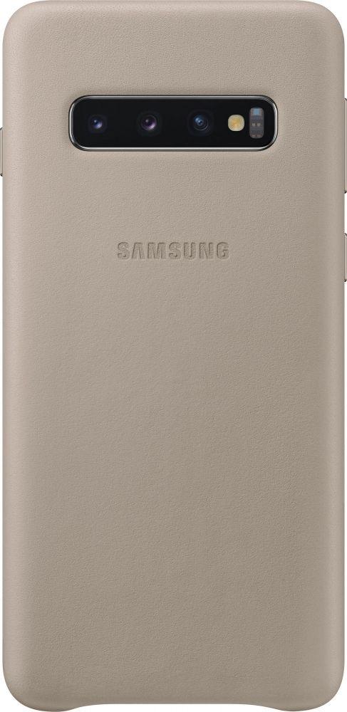 Панель Samsung Leather Cover для Samsung Galaxy S10 (EF-VG973LJEGRU) Gray от Територія твоєї техніки