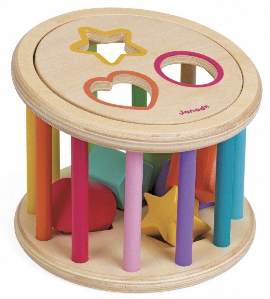 Купить Игрушки для малышей, Сортер Janod Барабан с формами (J05336)