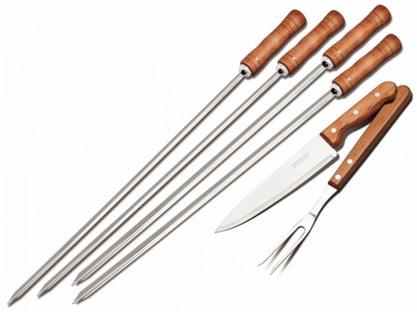 Купить Аксессуары для мангалов, барбекю, грилей, Набор для гриля Tramontina Barbecue 6 предметов (26499/027)