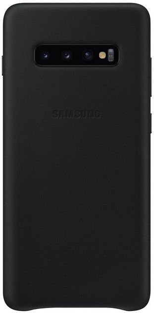Панель Samsung Leather Cover для Samsung Galaxy S10 Plus (EF-VG975LBEGRU) Black от Територія твоєї техніки