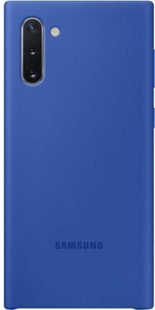 Накладка Samsung Silicone Cover для Samsung Galaxy Note 10 (EF-PN970TLEGRU) Blue от Територія твоєї техніки