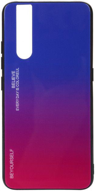 Купить Чехлы для мобильных телефонов, Панель BeCover Gradient Glass для Vivo V15 Pro (704034) Blue-Red