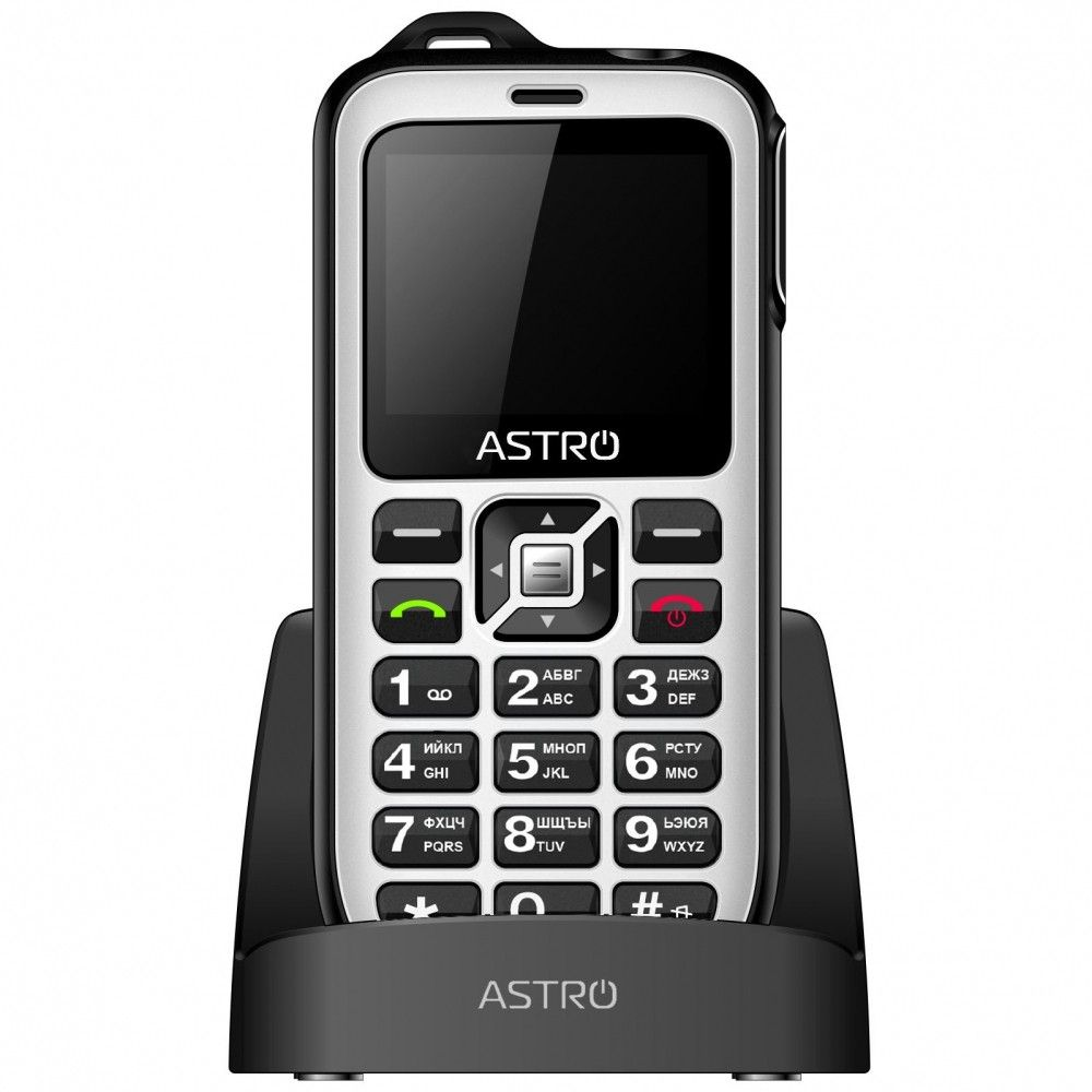 Купить Кнопочные телефоны, Мобильный телефон ASTRO B200 RX White