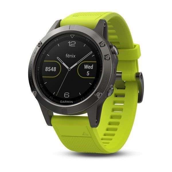 Смарт часы Garmin Fenix 5 Slate Gray with Yellow Band (010-01688-02 ... 3b5f15ca61e3a
