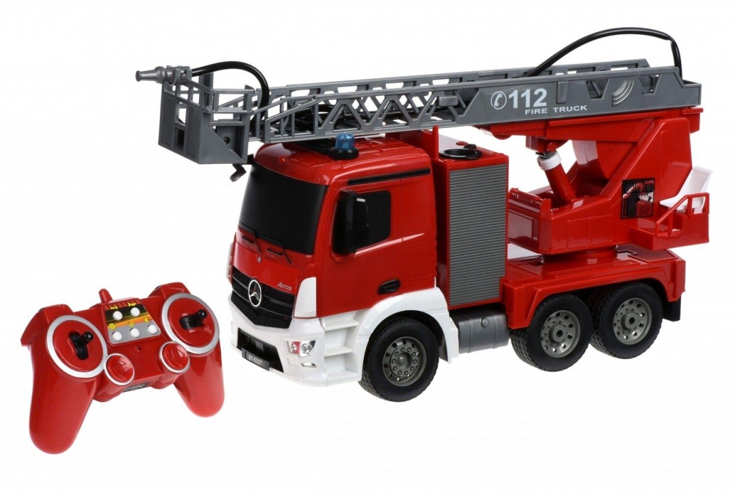 Купить Игрушечные машинки и техника, Машинка на р/у 3 в 1 Same Toy Пожарная машина Mercedes-Benz с лесницей 1:20 (E527-003)