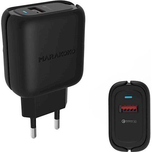 Купить Зарядные устройства, Зарядное устройство Marakoko MA36 1USB QC3.0 24W Black