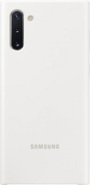 Накладка Samsung Silicone Cover для Samsung Galaxy Note 10 (EF-PN970TWEGRU) White от Територія твоєї техніки