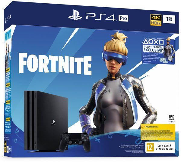 Купить Игровые консоли, Игровая приставка Sony PlayStation 4 Pro 1Tb Black (Fortnite)