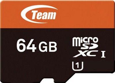 Карта памяти Team 64 GB Micro SD UHS-1 + адаптер