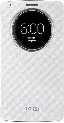 Чехол LG QuickWindow для LG G3 D855 White (ССF-340G.AGEUWH)