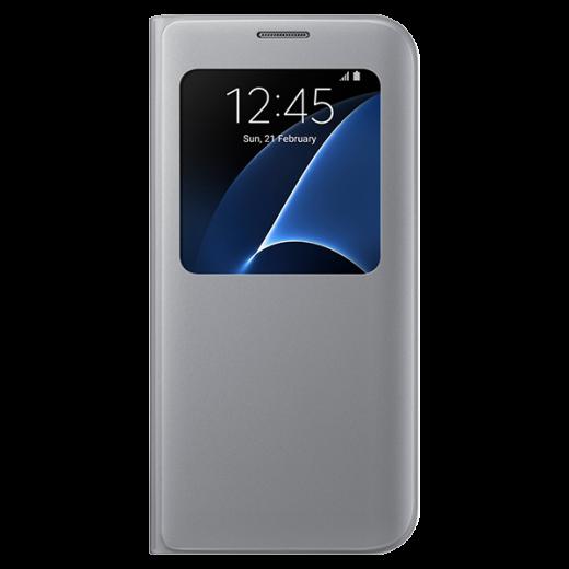 Чехол Samsung S View для Galaxy S7 Silver (EF-CG930PSEGRU)