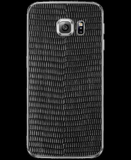 Кожаная наклейка Black Cayman для Samsung Galaxy S6 edge (G925)