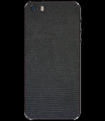 Кожаная наклейка Black Suede для iPhone 5S/SE