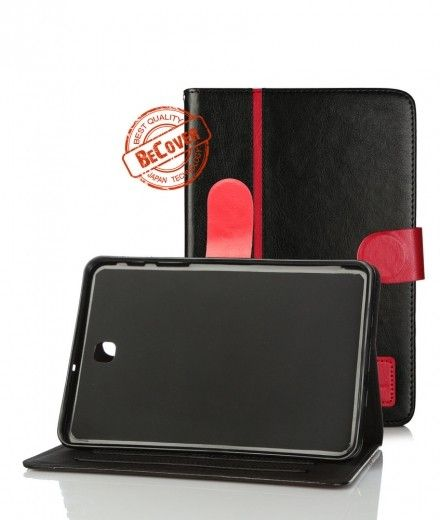 Кожаный чехол Folio PU BeCover для Samsung Tab S2 8.0 T710/T715 Black-Red