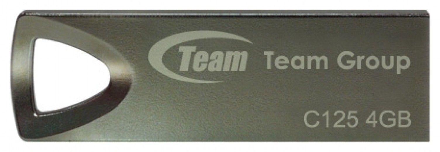 USB флеш накопитель Team C125 Silver 4Gb (TC1254GS01)
