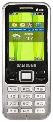 Мобильный телефон Samsung C3322 Titanium Silver
