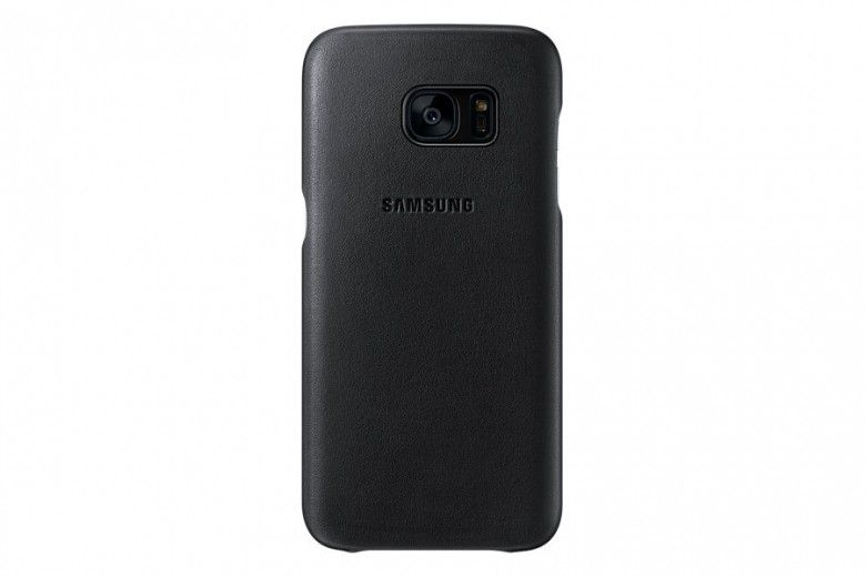 Чехол Leather Cover Samsung Galaxy S7 Edge Black (EF-VG935LBEGRU)