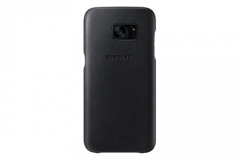 Чехол Leather Cover Samsung Galaxy S7 Edge Black (EF-VG935LBEGRU)