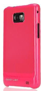 Чехол Design Craft Galaxy S2 Plus Pink