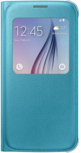 Чехол Samsung S View Zero для Samsung Galaxy S6 Blue (EF-CG920PLEGRU)