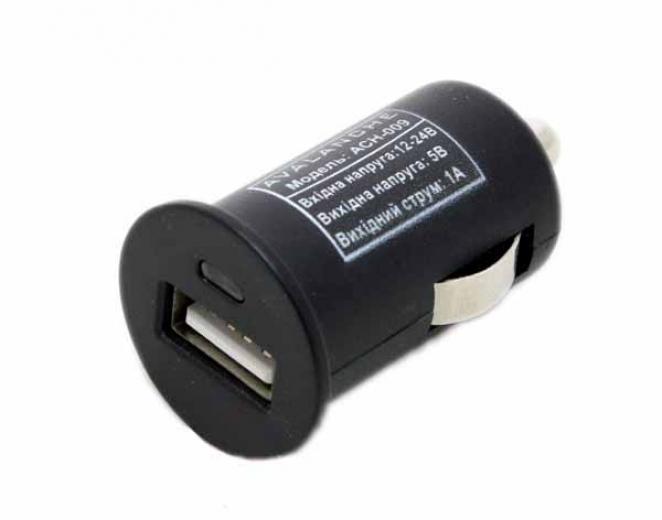 Автомобильный USB адаптер ACH-009 1A Avalanche