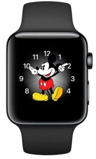 Смарт часы Apple Watch Series 2 38mm Space Black Stainless Steel Case Black Sport Band