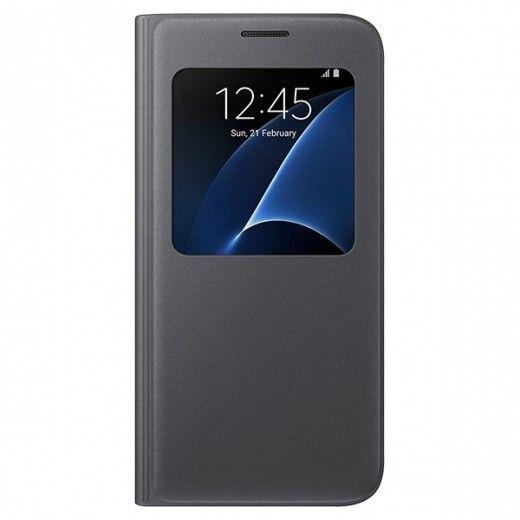 Чехол S View для Galaxy S7 Black (EF-CG930PBEGRU)
