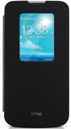 Чехол LG QUICK WINDOW для LG L90 Black (CCF-385AGEUBK)