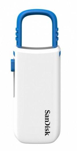 USB флеш накопитель SanDisk Cruzer U 8GB White-blue (SDCZ59-008G-B35WB)